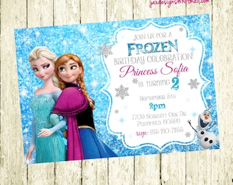 Frozen Birthday Invitation, Frozen Birthday Party, Frozen Invitation, Frozen Birthday Invitation, Princess Birthday