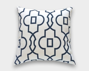 Navy Blue Bordeaux Pillow Cover. Decorative Pillow. All Sizes. Geometric Throw Pillow Cover.