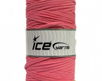 Pink T-shirt Yarn - 87 yards - 400 g/14 oz - Fabric Selvedge - Tricolette
