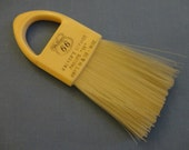 """Vintage Advertising Brush 1950s - """"Phillips 66"""" - Cream colored with open handle & nylon bristles, 2"""" by 5 1/2"""", """"Walker's Service - Wisc."""""""