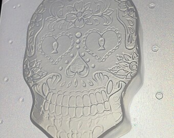 Flexible Soap Mold Sugar Skull