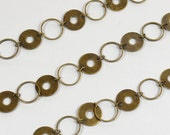Olympic Circle Chain - Antique Brass - 50% OFF 2ft CH113