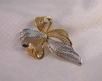 Vintage Park Lane Silver and Gold Fashion Brooch