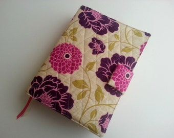 Quilted style Bible Cover in Joel Dewberry's Bungalow Dahlia Grass with optional handles Custom fit to your Bible