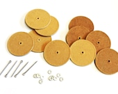 Teddy Bear Joints 2.5 inch 64mm Round Hardboard Discs w/Cotter Pins Washers Plush animal Dollmaking Tool itsyourcountry