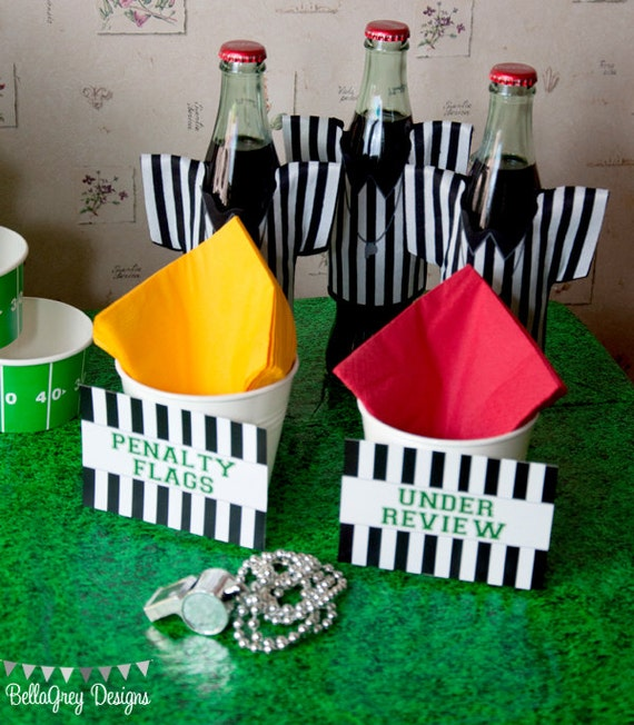 food tent cards for Football Party by BellaGrey Designs
