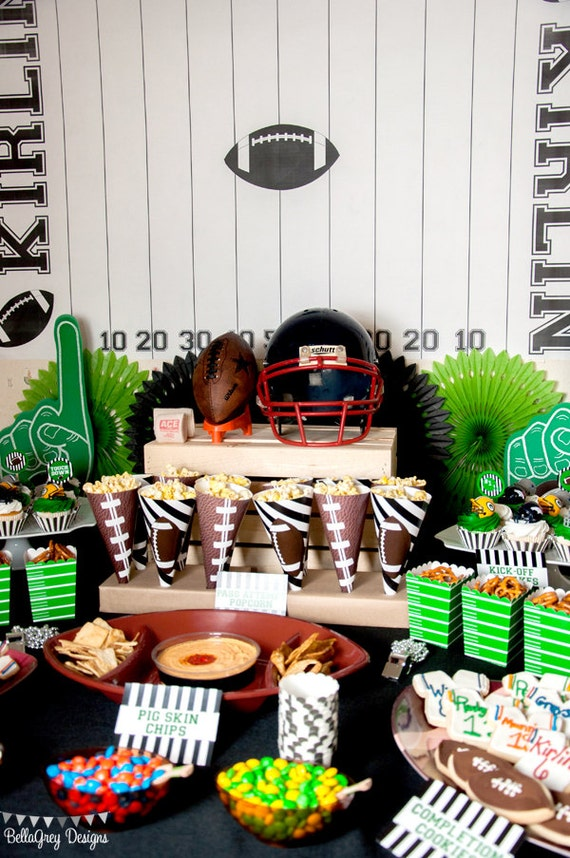 Football Field Backdrop for Football Party by BellaGrey Designs