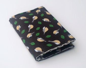 Business Card Holder,  Fabric Credit Card Case, Small Wallet, Chickadees