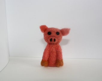 small needle felted pig