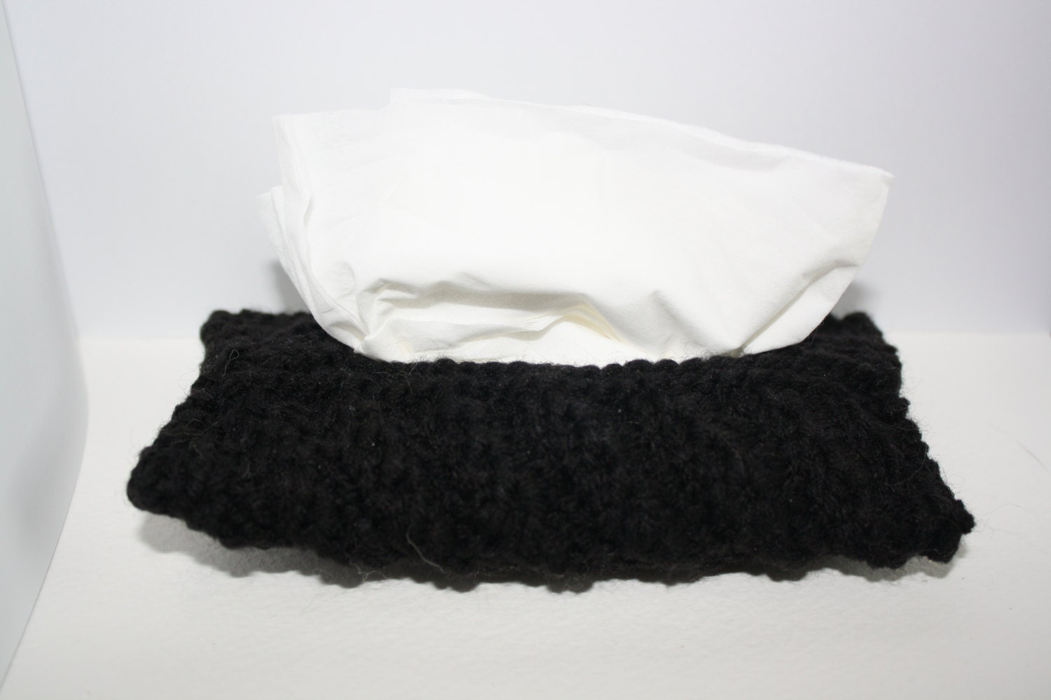 Knitting Pattern Tissue Holder : Travel tissue cozy / knitted tissue holder by Crystalcat1989