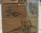 Rocks Mounted Rubber Stamps