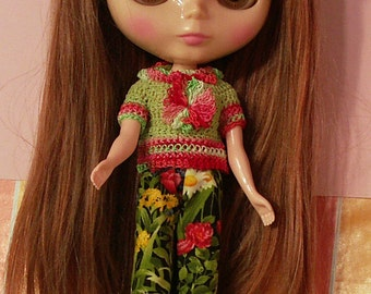 "Garden Delight – Outfit - for 12"" Blythe by JDL Doll Clothes"