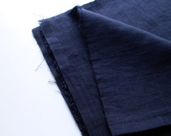 cotton double gauze fabric. soft japanese pure cotton fabric. 102cm (40in) wide. sold by 50cm (19in) long / half yard. navy blue