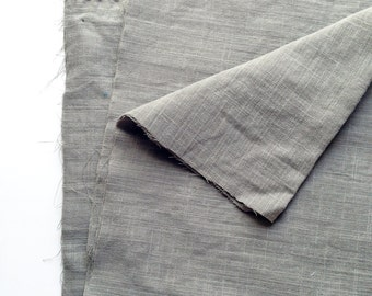 cotton double gauze fabric. soft japanese pure cotton fabric. 102cm (40in) wide. sold by 50cm (19in) long / half yard. olive grey