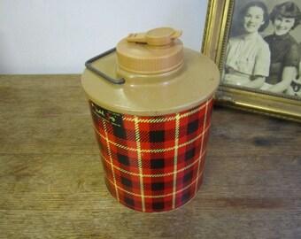 The Skotch Jug Cooler. Picnic Jug. Clean Ready To Go Plaid Picnic Jug. Half Gal Picnic Jug