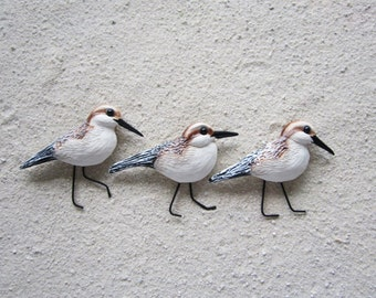 Sandpiper wall decor nautical shorebird sculpture