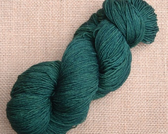 """Hand dyed British Bluefaced Leicester/nylon sock yarn in """"Forests will fall"""""""
