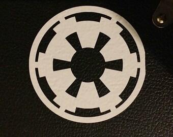 Star Wars Imperial Seal vinyl sticker 5x5