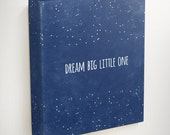 Dream Big Little One Canvas, Star Wall Art, Star Nursery Decor, Boy Nursery Wall Art, Girl Nursery Decor, Moon and Stars Nursery, Canvas Art