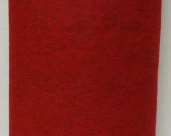 Barnyard Red 20% Merino Wool Felt Blend Fabric By the Yard from Woolhearts