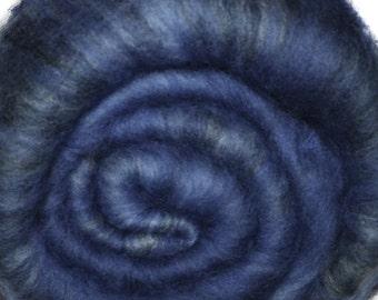 Spinning fiber batt for spinning and felting - Drum carded mixed fiber batt - Danube - 1.9 ounces