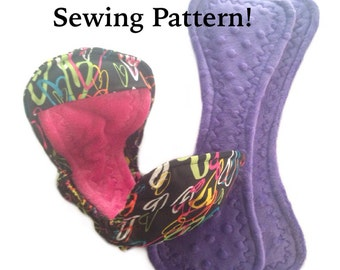 Postpartum Sewing Pattern - PUL Shell with Gussets and Wings Plus Insert Pattern With Picture Tutorial pdf, INSTANT DOWNLOAD, cloth pad