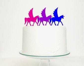 Unicorn Wedding Birthday Celebration Topper