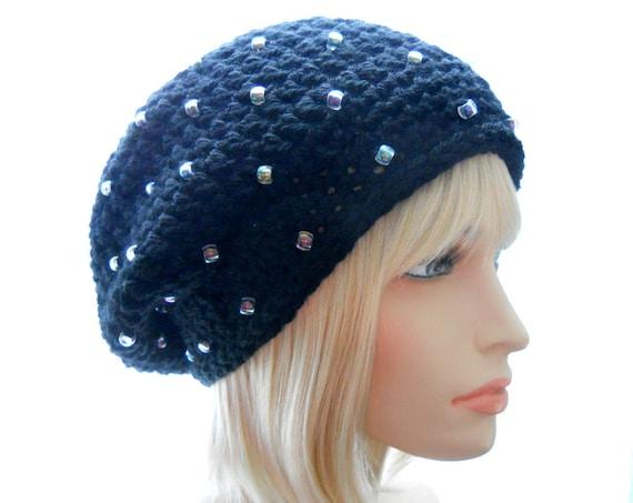 CROCHET PATTERN: Starlit a Beaded Slouchy Hat by HatsbyElvee