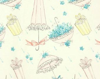 1970s gift wrap // bridal shower