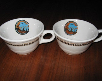 Two (2) Syracuse China Soyuzivka Kerhonkson New York Coffee Cups