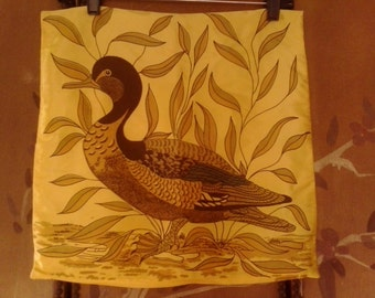 60s yellow duck cushion cover