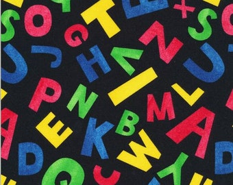 Back to School Letters on Black from Fabri-Quilt