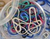 Colorful Coiless Bulb-End Safety Pins / Locking Stitch Markers -- shades