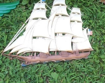 Vintage syrocco ship wall hanging