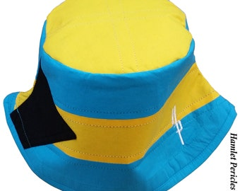 The Bahamas Unisex Bucket Hat | Bahamas Hat | Country Hat | The Bahamas Flag |  Yellow Blue Hat by Hamlet Pericles