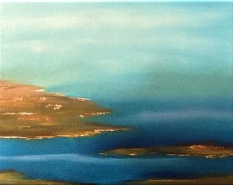 Original Handpainted Landscape Oil Painting. Size 8 x 10 in. canvas panel