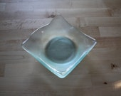 Recycled Glass Asymmetrical Square Bowl