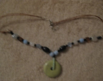 20 inch corded beaded necklace  Trendy design