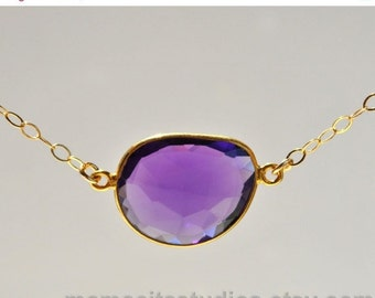 SALE Amethyst Necklace - February Birthstone Necklace