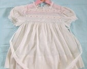 Vintage Toddler Girls Dress Cotton Dimity Size 3T 1940s