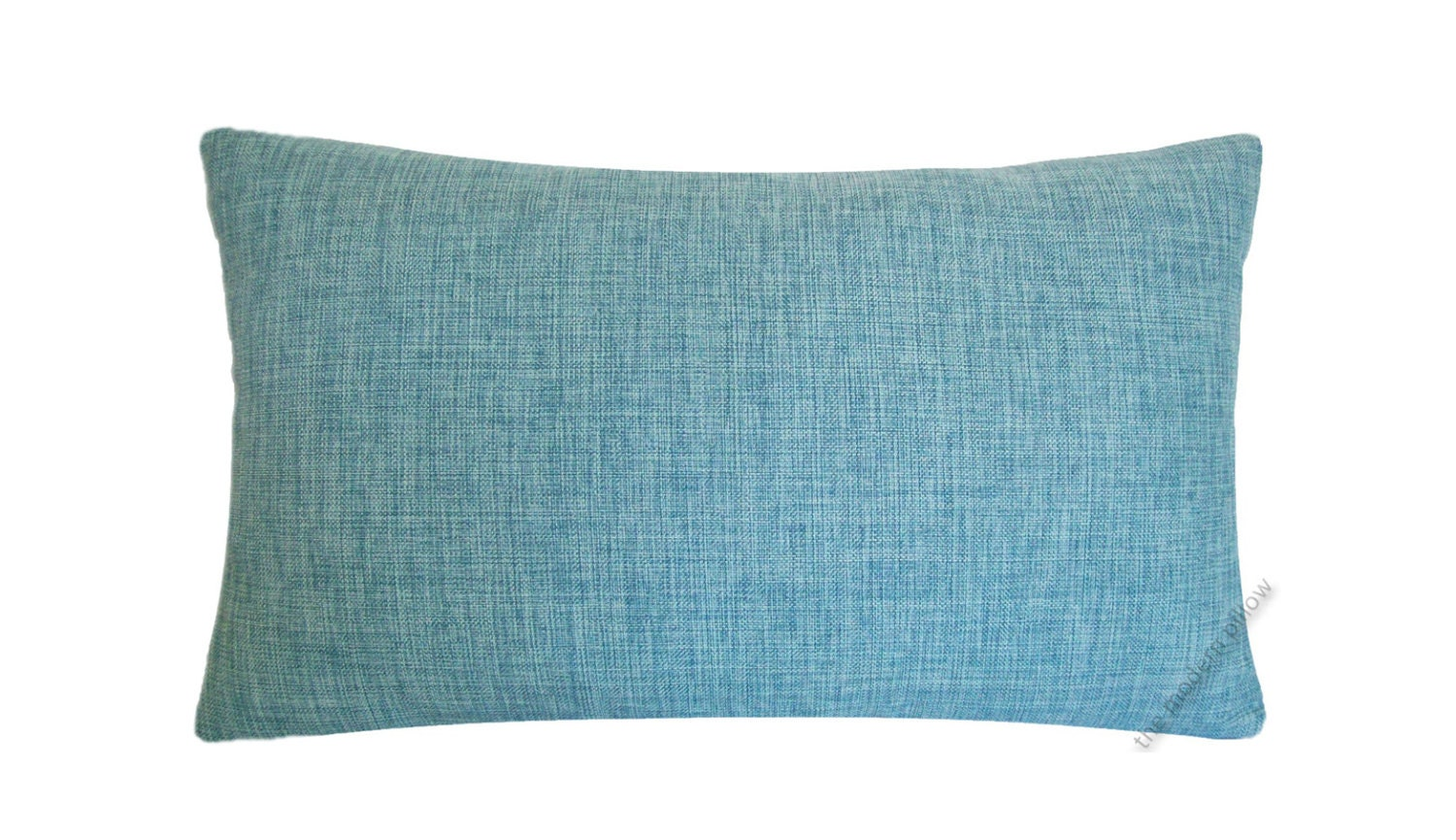 Throw Pillows Aqua Blue : Aqua Blue Cosmo Linen Decorative Throw Pillow Cover / Pillow