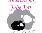 Reserved for Julie York