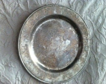 Vintage Pewter Plate, Marked Wilton-Columbia