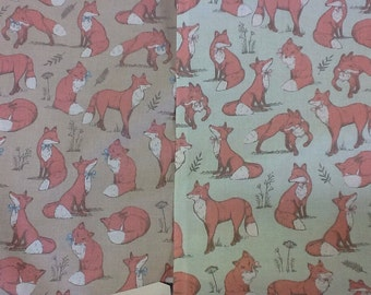 Woodland Mrs Fox craft fabric sold by the half metre