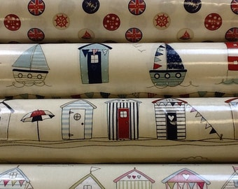 Fryetts pvc vinyl tablecloth by the half metre in nautical designs
