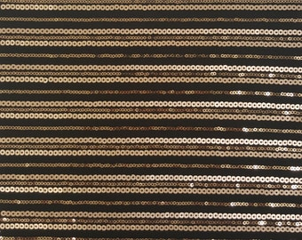 Black and Gold Stripe Sequin Fabric by the yard