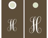 Corn Hole Decals   Wedding Monogram   Vinyl Decals for Cornhole Game Boards