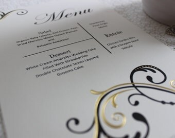 Black and Gold Foil Menu 100