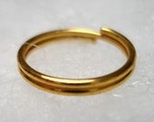 Jump Ring Split Metal Goldtone 12mm OD (10)