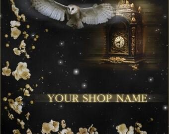 Custom Etsy Shop Banner Set (Pre-made) - Time Waits